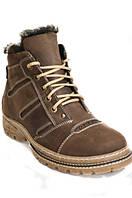 Зимние мужские ботинки из натуральной кожи на полиуретановой подошве на цигейке.