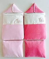 Теплый конверт в коляску с подушкой