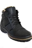 Зимние мужские ботинки из натуральной кожи на цигейке.