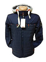 Мужская осенняя куртка (пуховик) HF-mountaine с капюшоном