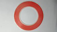 Скотч двухсторонний рулонный красный, 5 мм