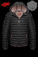 Черная куртка мужская стеганная осень-зима