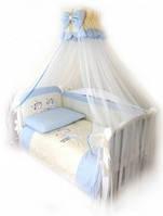 Детский постельный комплект Twins Evolution A-006 Ангелочки 7 предметов, голубой