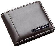 Кожаный кошелек Tommy Hilfiger Оригинал темно коричневый в фирменной упаковке кожаное портмоне Томми Хилфигер