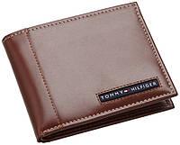 Кожаный кошелек Tommy Hilfiger Оригинал коричневый в фирменной упаковке кожаное портмоне Томми Хилфигер