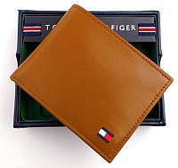 Светло коричневый кожаный кошелек Tommy Hilfiger Оригинал в фирменной упаковке кожаное портмоне Томми Хилфигер