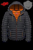 Темно-серый пуховик мужской