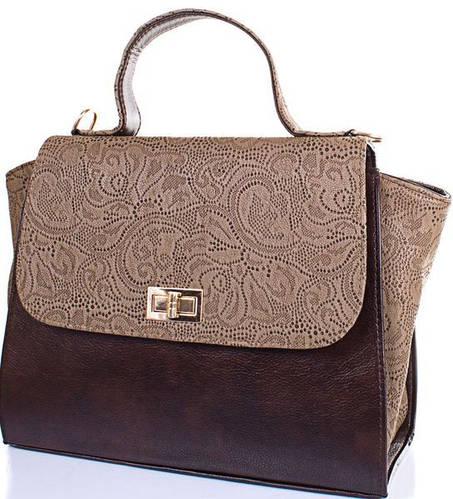 Женская сумка из качественной искусственной кожи ETERNO (ЭТЕРНО) ETB14-49 Коричневый