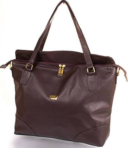 Элегантная женская сумка из качественной искусственной кожи ETERNO (ЭТЕРНО) ETB 15-56-12-1 Коричневый