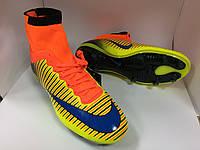 Бутсы Nike Mercurial желто-оранжевые