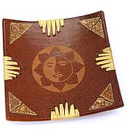 Тарелка декоративная деревянная