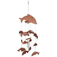 Колокольчик фен шуй музыка ветра «Дельфины», h-46 см.