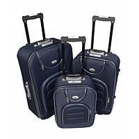 Чемодан сумка Deli 801 набор 3 штуки темно синий