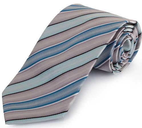 Шикарный мужской широкий галстук SCHONAU & HOUCKEN (ШЕНАУ & ХОЙКЕН) FAREPS-57 голубой