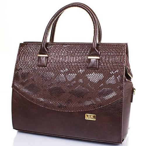 Удобная женская сумка из качественной искусственной кожи ETERNO (ЭТЕРНО) ETB16-07-10-1 Коричневый