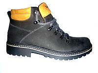 Ботинки мужские Timberland(тз.ч), натуральная кожа,  на меху