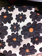 Покрывало плед микрофибра цветы