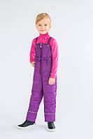 Детский зимний полукомбинезон для девочки (темная сирень)