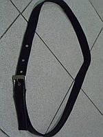 Пояс из натуральной кожи черного цвета для брюк и юбок длина 88см-120см Турция