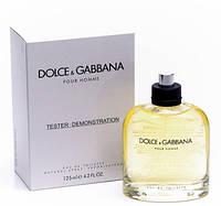 Тестер. Мужская туалетная вода Dolce & Gabbana  Pour Homme (Дольче Габбана пур ом) 125 мл.