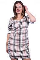 Платье женское полубатал клетка