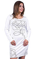 Платье женское полубатал узор роза