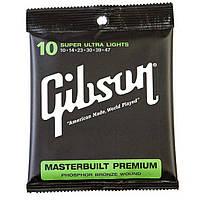 Струны Gibson SAG-MB10 Masterbuilt Premium Phosphor (0.10-0.47) для акустической гитары