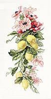 """Набір для вишивання Luca-S B210 """"Квіти і лимони"""""""