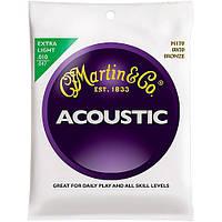 Струны Martin M170 80/20 Extra Light (0.10-0.47) для акустической гитары