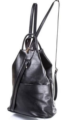 Женский кожаный рюкзак ETERNO (ЭТЕРНО) ETK00-2110 Черный