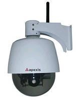 Камера наблюдения беспроводная Apexis APM-J901-Z-WS: зум 3х, 0,5 Лк, микрофон, сигнал тревоги