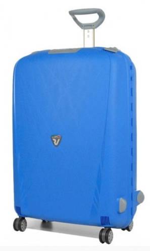Легкий 4-колесный большой чемодан-спинер 90 л. Roncato Light 500711/18 голубой