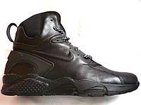 Кроссовки мужские Nike Huarache, натуральная кожа, зимние на меху