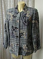 Пиджак шикарный вышивка indigo moon р.50 7209