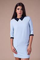 Платье женское с воротничком и карманами, фото 1