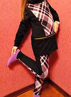 """Детские трикотажные лосины """"Tanita"""" с контрастными вставками (3 цвета)"""