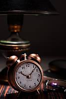 Свеча будильник 130х90х150 мм.  1 шт. Цвет медь