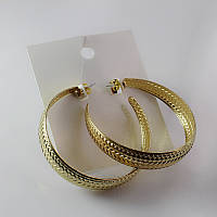 Стильные большые женские позолоченные серьги кольца от H&M