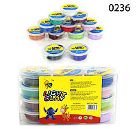 Набор Light Clay 0236 тесто для лепки (12 цветов)