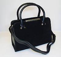 Женская замшевая сумка Yi Rui, черный цвет
