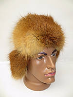 Мужская шапка ушанка мех лисы
