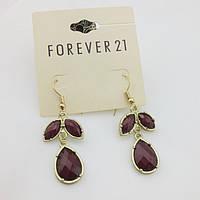 Красивые стильные женские серьги в форме листьев от Forever 21