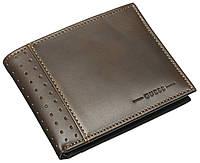 Мужской кожаный кошелек Guess Оригинал качество стильная модель кожаное портмоне Гуесс кожа