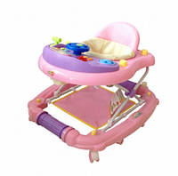 Детские ходунки Babyhit Emotion Racer Pink (11-482) с музыкальными эффектами