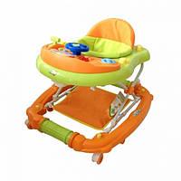 Детские ходунки Babyhit Emotion Racer Orange (11-482) с музыкальными эффектами