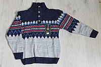 Вязанный свитер для мальчика 3-5 лет