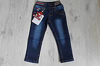 Детские джинсы для мальчика на флисе на 4,5 лет