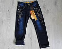 Детские джинсы для девочки на флисе на 4-12 лет