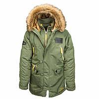 Куртка зимняя Alpha Industries N-3B Inclement Parka Green