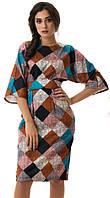 Платье женское кимоно клетка с поясом, фото 1
